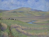 Galloway Landscape with 'belties' - acrylic - sold'